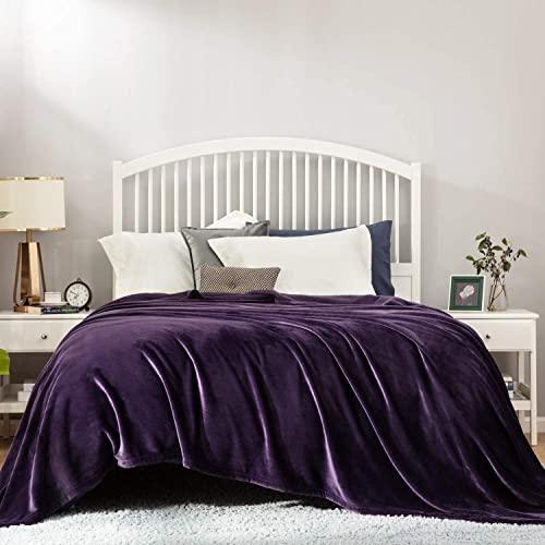 Bedsure Kuscheldecke Violett große Decke weiche& warme Fleecedecke Kuscheldecke 230x270 cm