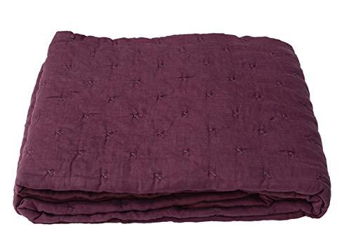 Nene-Home PATERGA Tagesdecke Aubergine Vorderseite 100% Leinen Rückseite: 100% Baumwolle 140 x 200 cm