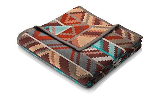 biederlack® Flauschige Kuschel-Decke Ethno Prisma gemusterte Wohndecke aus Baumwolle & dralon im Ethno-Stil 150x200 cm