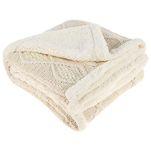 ODOMY Decke hochwertige Sofadecke Kuscheldecken, extra Dicke warm Sofadecke/Couchdecke in zweiseitig Fleecedecke
