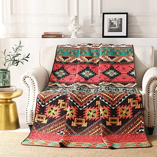 Qucover Tagesdecke Indische Bettüberwurf 150 x 200 cm Boho