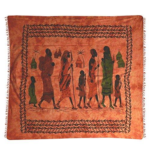 IB Tagesdecke Massai terrakotta 230 x 210 cm Ostafrika Baumwolle