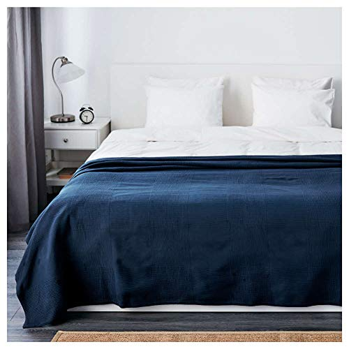 IKEA Indira Tagesdecke in dunkelblau; 100% Baumwolle; (230x250cm)