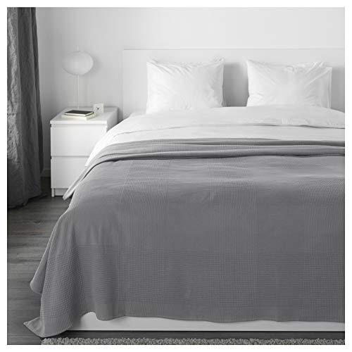 IKEA Indira Tagesdecke in grau; 100% Baumwolle; (230x250cm)