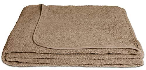 KiGATEX Frotteedecke Sommerdecke softig weich 100% Baumwolle 150x200 cm Öko-Tex Zertifiziert (Sahara)