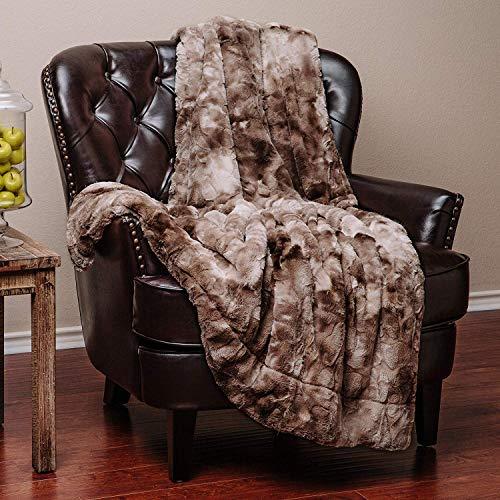 Cologo Kuscheldecke, Kunstfell Flauschige Decke, Mikrofaser Flanell Fleecedecke für Sofa & Sessel 130x160cm Super Weiche Warm mit doppelt genäht zweiseitige Fleecedecke & Sofadecke & Reisedecke