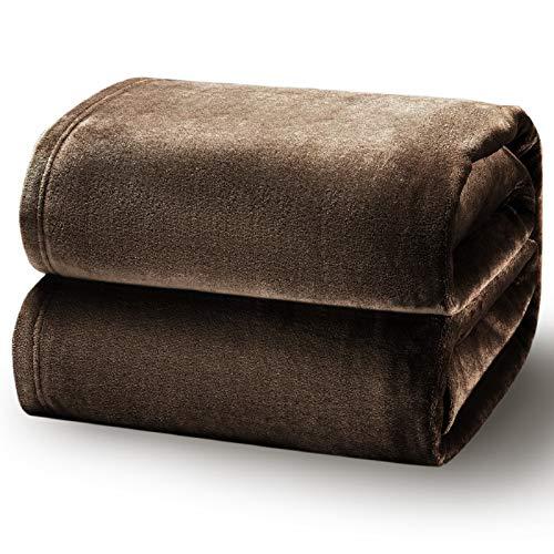 BEDSURE Kuscheldecke Braun große Decke Sofa, weiche& warme Fleecedecke als Sofadecke/Couchdecke, kuschel Wohndecken Kuscheldecken, 230x270 cm extra flaushig und plüsch Sofaüberwurf Decke