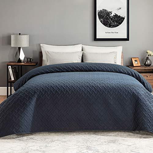 BEDSURE Tagesdecke Bettüberwurf 220x240 blau - gesteppt Quilt Überwurf Bett Überwurfdecke leicht, bedspreads Tagesdecken 220x240cm bei Ultraschall genäht
