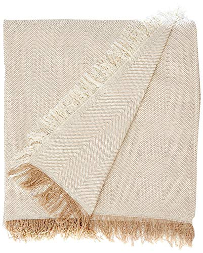 Martina Home, Espiga, Bettüberwurf, Mehrzweck/Plaid 230 x 260 cm Beige (Crudo Beige)