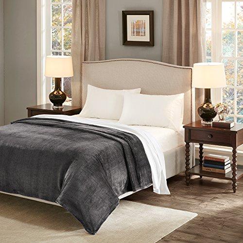 SCM Flauschige Kuscheldecke mit Premium Cashmere Feeling, hochwertige Wohndecke XXL super weiche und kuschelige Decke als Tagesdecke Bettüberwurf Sofadecke für Couch, grau 200x240cm