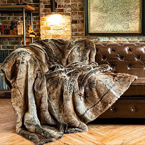 BATTILO HOME Überwurf aus Kunstfell, Warm, Elegant, Gemütlich, Dekorativ, für Bett, Sofa, 125 x 150 cm