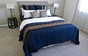 Quilt Tagesdecke für Doppelbett in Blau